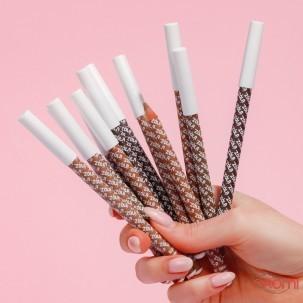 Карандаш для бровей ZOLA Powder Brow Pencil Blonde пудровый, светло-коричневый, 1,19 г