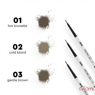 Карандаш для бровей Okis Brow Micro Brow Pencil 01 Hot Brunett пудровый, 0,06 г