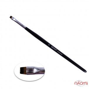 Пензлик для фарбування брів MILEO 6, прямий, штучний ворс, ширина 6 мм