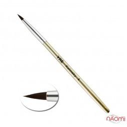 Кисть для акрила YRE Kolinsky 04, искусственный ворс, с золотистой ручкой
