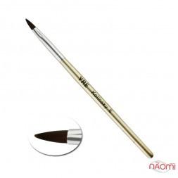 Кисть для акрила YRE Kolinsky 06, искусственный ворс, с золотистой ручкой