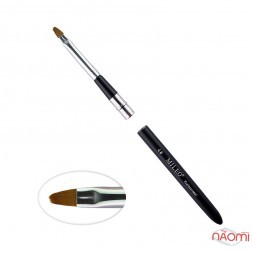 Кисть для геля MILEO 4, арочная, искусственный ворс, с черной ручкой