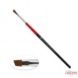 Кисть для геля Salon Professional № 4, скошенная, искусственный ворс