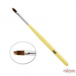 Кисть для градиента омбре NUB цвет желтый, 10 мм