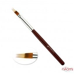 Пензель для градієнта, омбре Starlet Professional, червона ручка, штучний ворс