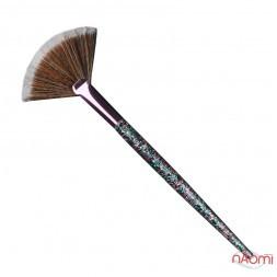 Кисть для макияжа Farres MZ-165, для румян и пудры, веерная, искусственный ворс