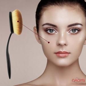 Кисть для макияжа Зубная щетка, для тональных средств и пудры, размер L