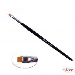 Кисть для окрашивания бровей MILEO 6, прямая, искусственный ворс, ширина 6 мм