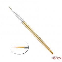 Пензель для малювання YRE 02, штучний ворс, із золотистою ручкою