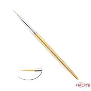 Кисть для рисования YRE 03, искусственный ворс, с золотистой ручкой