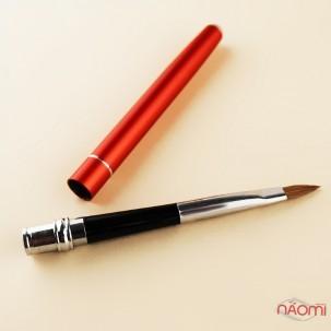 Кисть-трансформер для акрила YRE Nail Art Brush № 4, моделирующая, искусственный ворс, красная
