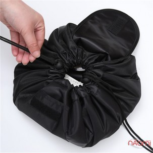 Косметичка-мішок, 52х52 см, колір чорний