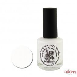 Краска для стемпинга матовая EL Corazon - Kaleidoscope № st-matte 102, матовый белый, 15 мл