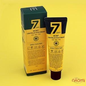 Крем для лица May Island 7 Days Secret Centella Cica Cream AHA BHA PHA восстанавливающий, 50 мл