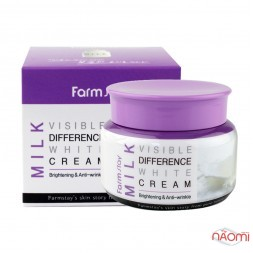 Крем для лица Farmstay Milk Visible Difference White Cream осветляющий с экстрактом молока, 100 г