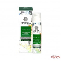 Крем-комфорт для жирной и комбинированной кожи лица Markell Skin City снежный гриб, ночной, 50 мл