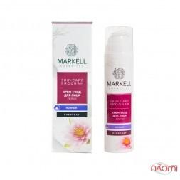 Крем-догляд для обличчя Markell Skin Care Program Лотос, нічний, 50 мл