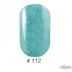 Лак Naomi 112 мятно-голубой с голографическими шиммерами, 12 мл