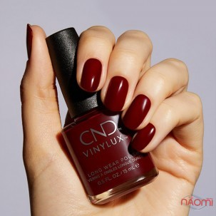 Лак CND Vinylux Cocktail Couture 365 Bordeaux Babe насыщенный малиново-красный, 15 мл