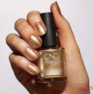 Лак CND Vinylux Cocktail Couture 368 Get That Gold сверкающий золотистый с шиммерами, 15 мл