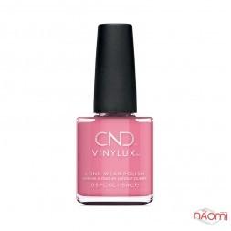 Лак CND Vinylux English Garden 349 Kiss From a Rose насыщенный розовый цвет, 15 мл