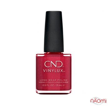 Лак CND Vinylux Night Moves 288 Kiss Of Fire, красный с мелкими золотистыми блестками, 15 мл, фото 1, 149.00 грн.