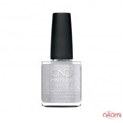 Лак CND Vinylux Night Moves 291 After Hours, искристое серебро с блестками, 15 мл