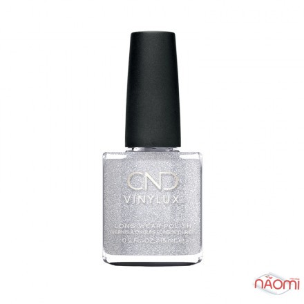 Лак CND Vinylux Night Moves 291 After Hours, искристое серебро с блестками, 15 мл, фото 1, 149.00 грн.