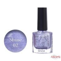 Лак-краска для стемпинга Saga Professional Stamping Shine 02 серо-серебристый перламутр, 8 мл