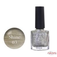 Лак-краска для стемпинга Saga Professional Stamping Shine 03 золотистый перламутр, 8 мл