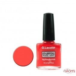 Лак для нігтів для стемпінгу 10мл G. Lacolor 005