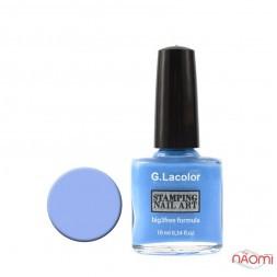 Лак для стемпінга G. Lacolor 006 небесно-блакитний, 10 мл