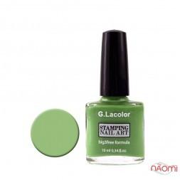 Лак для стемпінга G. Lacolor 008 зелений, 10 мл