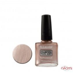 Лак для нігтів для стемпінгу 10мл G. Lacolor 010