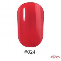 Лак Naomi 024 перламутрово-красный, 12 мл