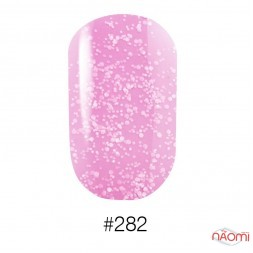 Лак Naomi 282 светло розовый с вкраплениями, 12 мл