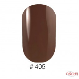 Лак Naomi 405 коричнево-кофейный с перламутром, 12 мл