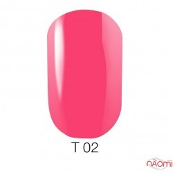 Лак Naomi T002 полупрозрачный розовый, 12 мл