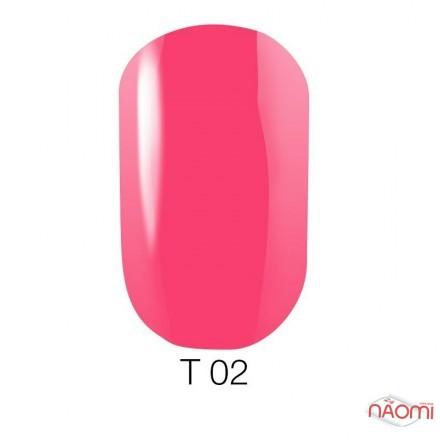Лак Naomi T002 полупрозрачный розовый, 12 мл, фото 1, 60.00 грн.