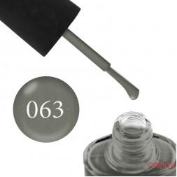 Лак NUB 063 зеленовато-серый, с перламутром, 14 мл