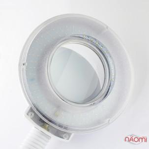 Лампа-лупа напольная на штативе с гибким держателем, на подставке