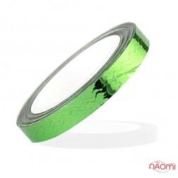 Лента-скотч для ногтей, зигзаги, цвет зеленый 5 мм