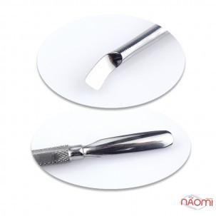 Лопатка манікюрна NIKI Professional 03, округлений пушер і вигнутий шабер