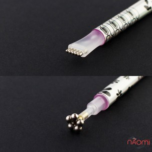 Магніт 5D квітка для гель-лаку Edlen Professional, колір срібло