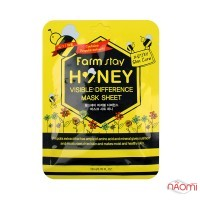 Маска для лица тканевая Farmstay Visible Difference Mask Sheet Pack Honey с медом и прополисом, 23мл