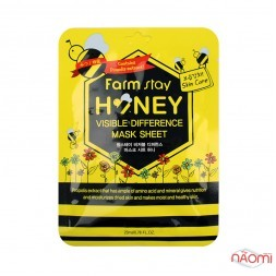 Маска для лица тканевая Farmstay Visible Difference Mask Sheet Pack Honey с медом и прополисом, 23мл