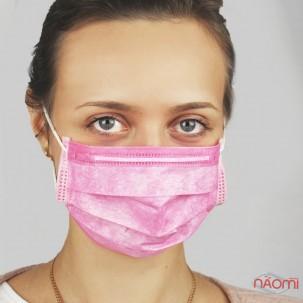 Маска на лицо, 5 шт., цвет розовый