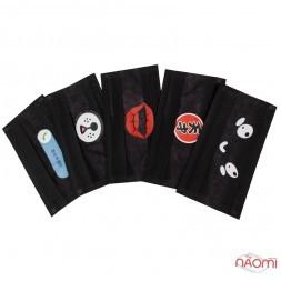 Маска на лицо Disposable masks, 5 шт., цвет черный с рисунком