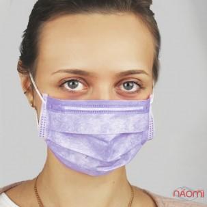 Маска на обличчя Fiomex Begreat Premium, колір ліловий, 5 шт.