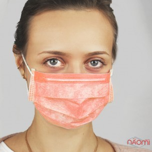 Маска на обличчя Fiomex Begreat Premium, колір помаранчевий, 5 шт.